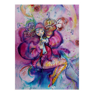 MUSICAL PINK CLOWN POSTERS