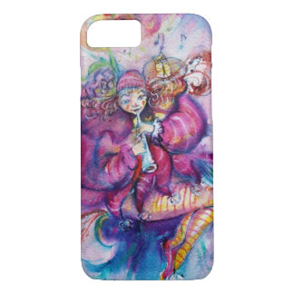 MUSICAL PINK CLOWN WITH OWL iPhone 7 CASE