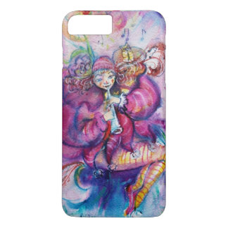MUSICAL PINK CLOWN WITH OWL iPhone 7 PLUS CASE