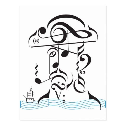 Musical Piracy Postcard