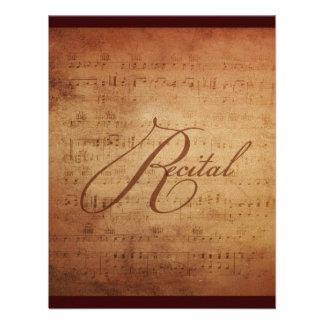 Musical Recital Antique Sheet Music Custom Personalized Invite