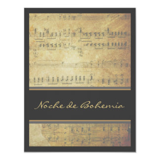 Musical Recital Concert Classic Sheet Music Card