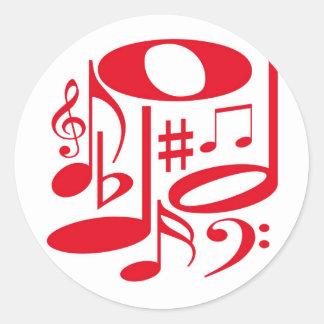 Musical  Red Sticker