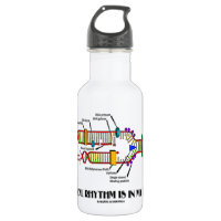 Musical Rhythm Is In My Genes (DNA Replication) 18oz Water Bottle