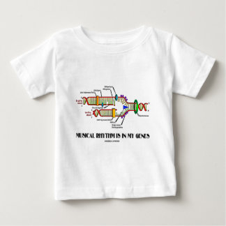 Musical Rhythm Is In My Genes (DNA Replication) Baby T-Shirt