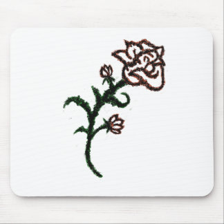 Musical Rose Mouse Pad
