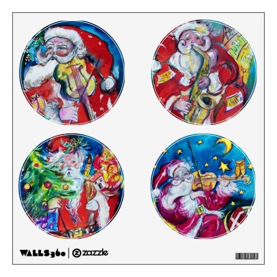 MUSICAL SANTA CIRCLE CHRISTMAS COLLECTION WALL STICKER