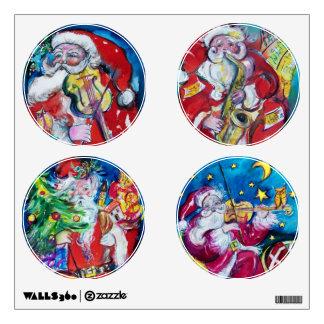 MUSICAL SANTA CIRCLE CHRISTMAS COLLECTION WALL STICKERS