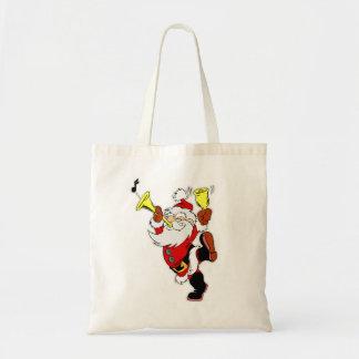 Musical Santa Claus Tote Bags