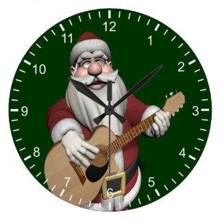 Musical Santa Claus Playing Christmas Songs Wall Clock
