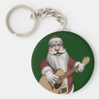 Musical Santa Claus Playing Christmas Songs Keychain