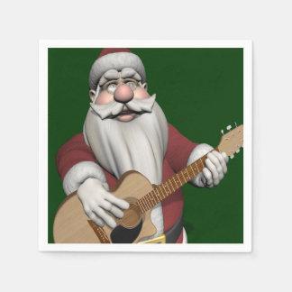 Musical Santa Claus Playing Christmas Songs Paper Napkin