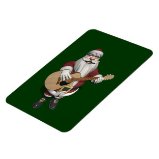 Musical Santa Claus Playing Christmas Songs Rectangular Photo Magnet