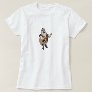 Musical Santa Claus Playing Christmas Songs T-Shirt