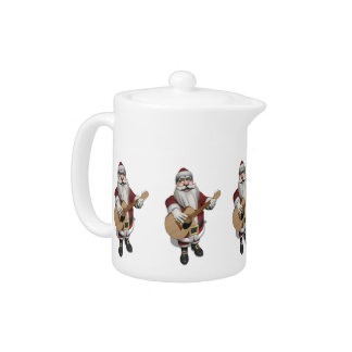 Musical Santa Claus Playing Christmas Songs Teapot