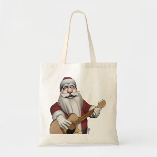 Musical Santa Claus Playing Christmas Songs Tote Bag