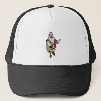 Musical Santa Claus Playing Christmas Songs Trucker Hat