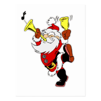 Musical Santa Claus Postcard