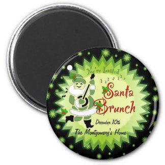 Musical Santa Elf Christmas Brunch Invitation Magn Magnet