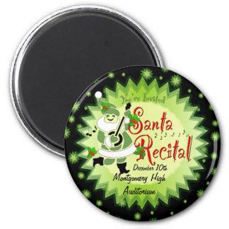 Musical Santa Elf Christmas Recital Magnet