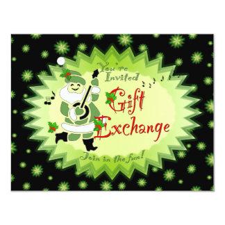 Musical Santa Elf Gift Exchange Party Invitations