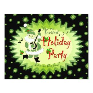 Musical Santa Elf Holiday Party Invitations