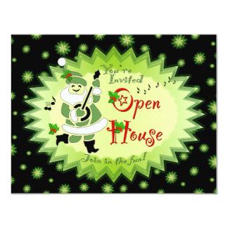 Musical Santa Elf Open House Invitations