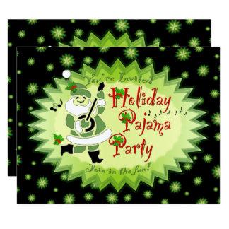 Musical Santa Elf Pajama Party Invitations