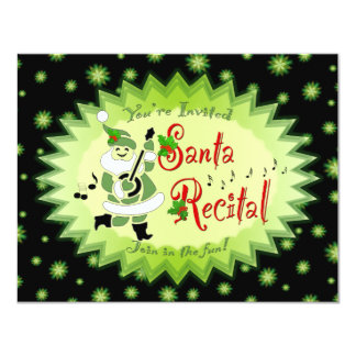 Musical Santa Elf Recital Invitations