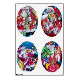 MUSICAL SANTA OVALE CHRISTMAS COLLECTION ROOM GRAPHICS