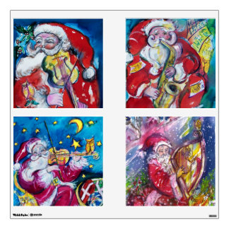 MUSICAL SANTA SQUARE CHRISTMAS COLLECTION ROOM GRAPHICS