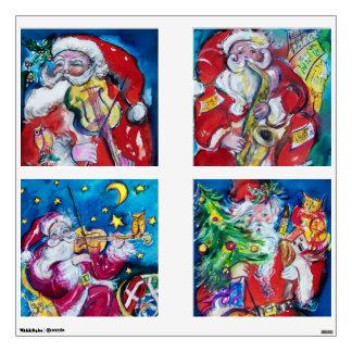 MUSICAL SANTA SQUARE CHRISTMAS COLLECTION WALL SKIN
