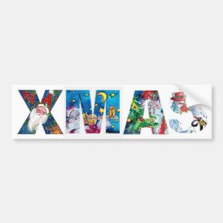 MUSICAL SANTA  XMAS PARTY / PENGUIN'S SERENADE BUMPER STICKER