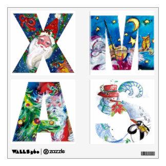 MUSICAL SANTA  XMAS PARTY / PENGUIN'S SERENADE WALL STICKER