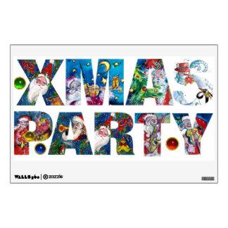 MUSICAL SANTA  XMAS PARTY WALL STICKER