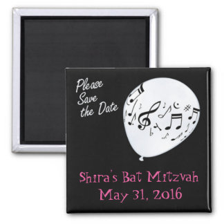 Musical Save the Date Bar or Bat Mitzvah Magnet