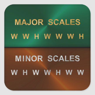 Musical Scale Intervals Square Sticker