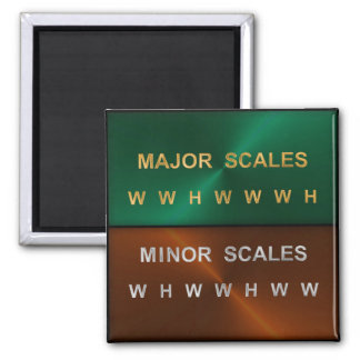 Musical Scales Progressions Magnet