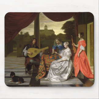 Musical Scene in Amsterdam Mouse Pad