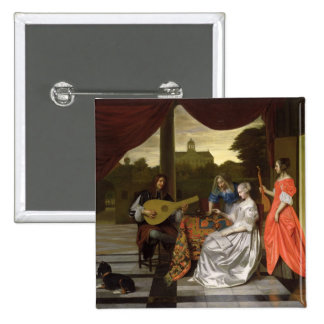 Musical Scene in Amsterdam Pinback Button