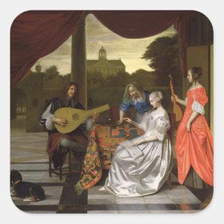 Musical Scene in Amsterdam Square Sticker