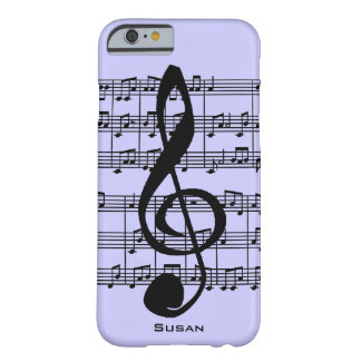 Musical Score and Treble Clef iPhone 6 Case
