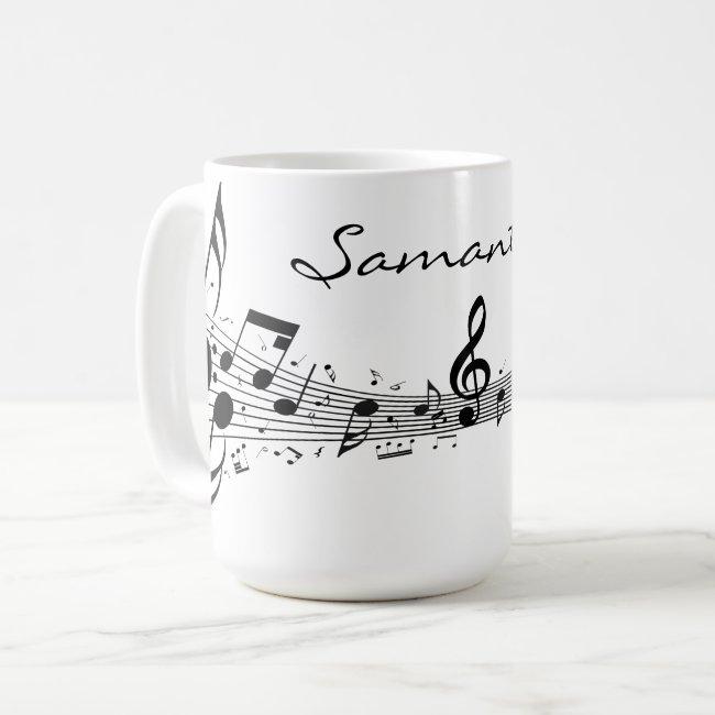 Musical Score Coffee Mug