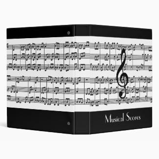 Musical Score Design Binder