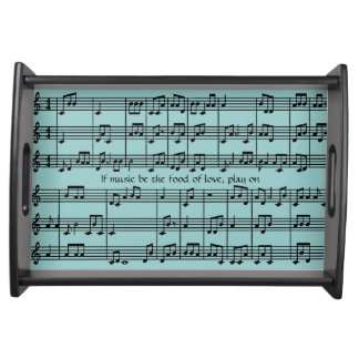 Musical Score Design Serving Tray