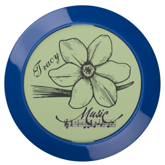 Musical Score Dogwood flower with Name Chargehub