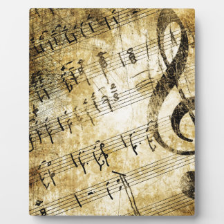 Musical Score Grunge Plaque
