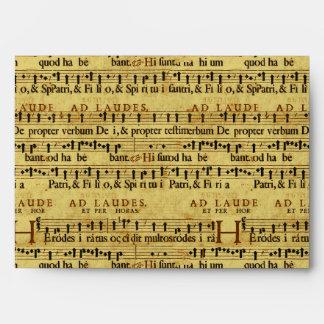 Musical Score Notation Old Paper Design Envelopes