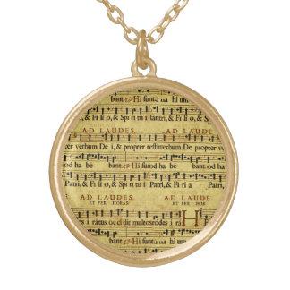 Musical Score Notation Old Paper Design Jewelry