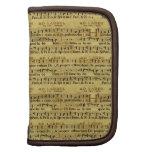 Musical Score Notation Old Paper Design Organizer